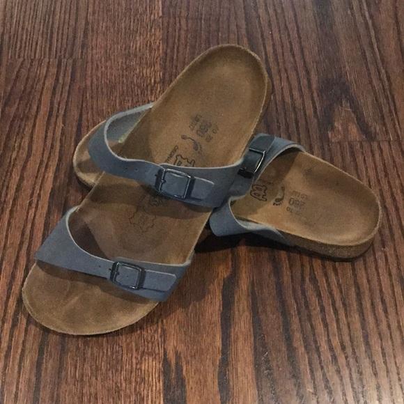 02d42b9f7afa Birkenstock Shoes - Steel Blue Birki s Birkenstock Sandals Size 40